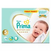 Prima Premium Care 5 Numara 74 Adet Bebek Bezi Ava...