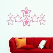 Loyoki Ahşap 10 Parça Duvar Dekor Yıldızlar