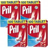 Pril Klasik Bulaşık Deterjanı Tableti 100 Yıkama 4lü Set