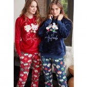 Feyza 3371 Kadın Pijama Takımı Lacivert