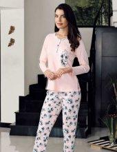 şahinler Alt Desenli Pijama Takımı Mbp23715 1