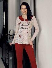 şahinler Puan Baskılı Kadın Pijama Takımı Vizon Mbp23707 1