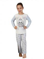 Elitol Kız Çocuk Kombin Ekru Pijama Takımı 19008