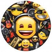 8 Adet Kikajoy Genç Emoji Karton Tabak