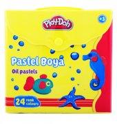 Play Doh 24 Renk Pastel Boya Çantalı Pastel Boya Playdoh