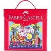 Faber Castell 24 Pastel Boya Çantalı 5281 125125