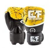 G4f Kıck Boxıng Gloves Leather Yellow Earth (Gf010)