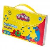 Play Doh 12 Renk Pastel Boya Çantalı Play Pa005