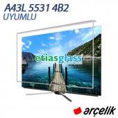 Arçelik A43l5531 4b2 Tv Ekran Koruyucu Ekran Koruma Camı Etiasglass