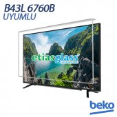 Beko B43l 6760b Tv Ekran Koruyucu Ekran Koruma Camı Etiasglass
