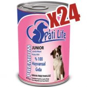 Pati Life Junior Kuzu Etli Konserve Köpek Maması 24 Adet 415 Gr