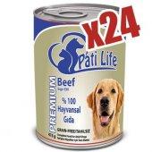 Evform Pati Life 24lü Sığır Etli Konserve Yaş Köpek Maması 415 G