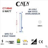 Cata Ct 9940 80 Ledli Şarjlı Işıldak Dimerli