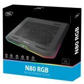 Deep Cool N80 Rgb 17,3 Ntb Soğutucu Siyah