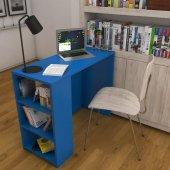 Kenzlife Çalışma Ve Bilgisayar Masası Raflı Venüs Mavi