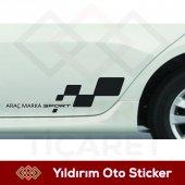 Sport Tüm Araçlara Kapı Altı Sağ Sol Sticker Yıldırım Ticaret