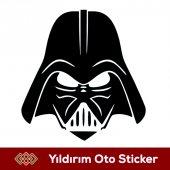 Darth Vader Maske Sticker Hediyeli Ürün