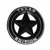 Texas Edition Siyah Beyaz Metal Logo