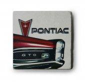 1966 Pontiac Gto Baskılı Doğal Limra Taşı Bardak Altlığı