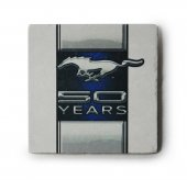 Ford Mustang 50. Yıl Logolu Doğal Limra Taşı Bardak Altlığı