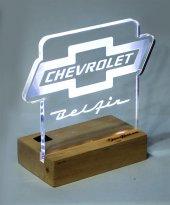 Chevrolet Belair Logolu Masaüstü Led Aydınlatma