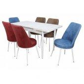 Lora Premıum Yemek Masa Takımı 6 Sandalyeli Kombinasyon