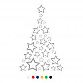 Yıldızlar İle Oluşturulmuş Yılbaşı Ağacı Süslemesi 100x150cm