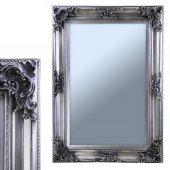 Gümüş Kaplamalı Antik Ahşap Çerçeveli Duvar Aynası