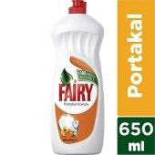 Fairy Sıvı Bulaşık Deterjanı Portakal 650 Ml