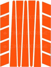 şerit Şeklinde Floresan Turuncu Sticker Reflektif Sticker Çınar E