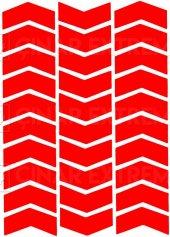 Ok Şeklinde Reflektif Kırmızı Sticker Reflektif Sticker Çınar Ext