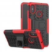 Edelfalke Xiaomi Redmi S2 Hibrit Silikon Kılıf Kırmızı