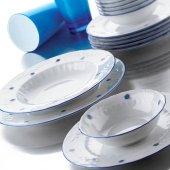 Kütahya Porselen Mina Mavi 48 Parça 12 Kişilik Yemek Takımı