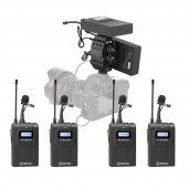 Boya 4lü Kablosuz Yaka Mikrofonu Seti