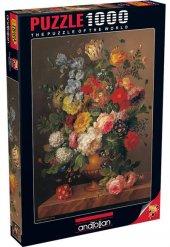 1000 Parça Puzzle Yapboz 48x66 3088 Çiçek Buket
