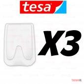 Tesa (Alman Markası) 3 Lü Plastik Kendinden Yapışkanlı Askılık