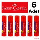 Faber Castell Stick Çevirmleli Yapıştırıcı 20 Gr. Orta Boy 6 Adet