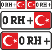 0 Rh + Sticker