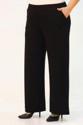 9012 Büyük Beden Beli Lastikli Penye Pantolon Siyah