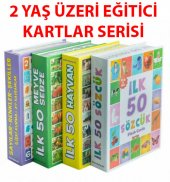 Dıytoy 4 Set 1 Arada Eğitici Zeka Kartları Hayvanl...