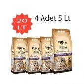 Mycat (5 Lt) 4 Adet Bentonit Kedi Kumu Lavanta Kokulu Kalın Tane