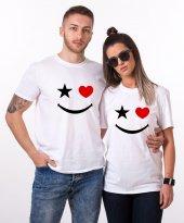 Tshirthane Yıldız Kalp Gülücük Sevgili Kombini Tişörtleri