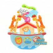 Todizoo Nuhun Gemisi Hayvanlar Eğitici Ahşap Denge Oyunu Montessori Waldorf