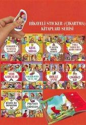 Hikayeli Sticker Çıkartma Kitapları Serisi 10 Kitap Set 2
