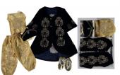 Bindallı Set Kız Bebek İ Kadife Lux 6ay 12ay