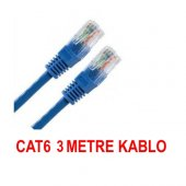 3 Metre Cat6 İnternet Ethernet Kablosu Fabrikasyon Rj45 Bst 2091p
