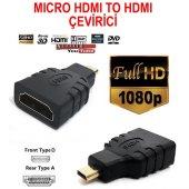 Micro Hdmı To Hdmı Çevirici Dönüştürücü Adaptör Mikro Bst 2025p