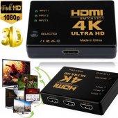Hdmi Çoklayıcı 3 Port 4k Ultra Hd Hdmı Switch Splitter Tv Uydu Ço