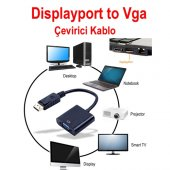 Displayport To Vga Çevirici Adaptör Display Port