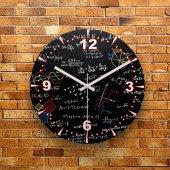 Fmc1356 Matematik Formülleri Mdf Ahşap Duvar Saati 39cm